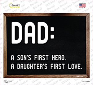 Dad A Son and Daughter Wholesale Novelty Rectangle Sticker Decal