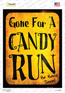 Candy Run Wholesale Novelty Rectangle Sticker Decal