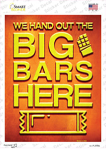 Big Bars Here Wholesale Novelty Rectangle Sticker Decal