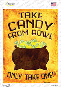 Candy Bowl Wholesale Novelty Rectangle Sticker Decal