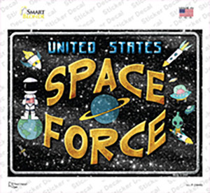 US Space Force Wholesale Novelty Rectangle Sticker Decal