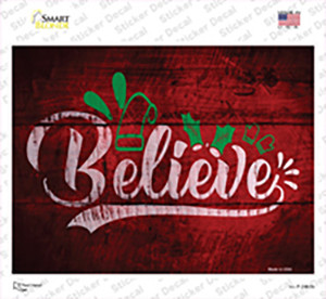 Believe Wholesale Novelty Rectangle Sticker Decal