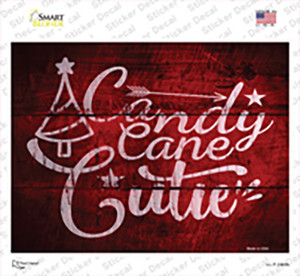 Candy Cane Cutie Wholesale Novelty Rectangle Sticker Decal