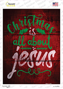 All About Jesus Wholesale Novelty Rectangle Sticker Decal