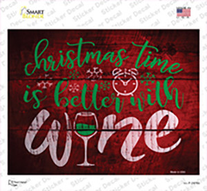 Better With Wine Wholesale Novelty Rectangle Sticker Decal