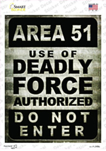 Area 51 Wholesale Novelty Rectangle Sticker Decal