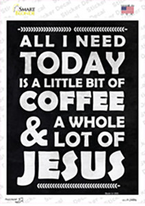 Coffee & Jesus Wholesale Novelty Rectangle Sticker Decal