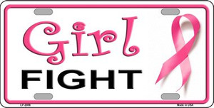 Girl Fight Wholesale Metal Novelty License Plate Sign