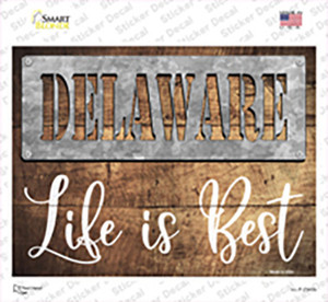 Delaware Stencil Life is Best Wholesale Novelty Rectangle Sticker Decal
