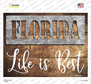 Florida Stencil Life is Best Wholesale Novelty Rectangle Sticker Decal