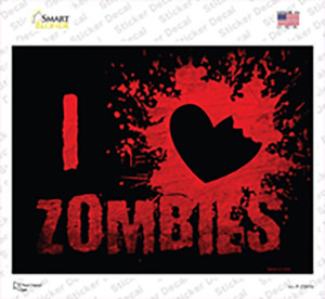 I Love Zombies Wholesale Novelty Rectangle Sticker Decal