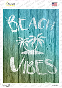 Beach Vibes Wholesale Novelty Rectangle Sticker Decal