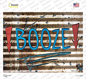 Booze Here Wholesale Novelty Rectangle Sticker Decal
