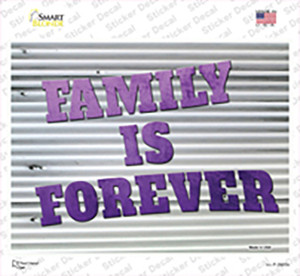 Family is Forever Wholesale Novelty Rectangle Sticker Decal