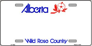 Alberta Novelty Background Wholesale Metal License Plate LP-1502