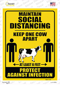 Keep One Cow Apart Wholesale Novelty Rectangle Sticker Decal