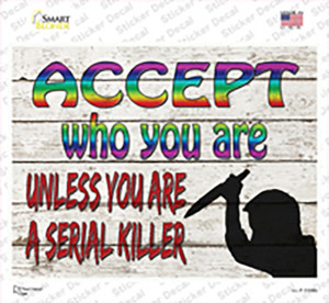 Accept Who You Are Wholesale Novelty Rectangle Sticker Decal