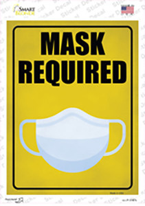Mask Required Wholesale Novelty Rectangle Sticker Decal