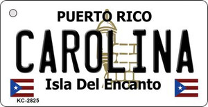 Carolina Puerto Rico Flag Wholesale Novelty Key Chain