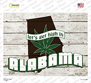Get High In Alabama Wholesale Novelty Rectangle Sticker Decal