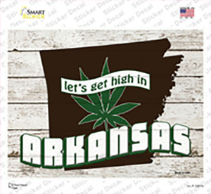 Get High In Arkansas Wholesale Novelty Rectangle Sticker Decal