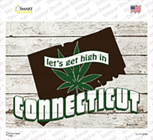 Get High In Connecticut Wholesale Novelty Rectangle Sticker Decal