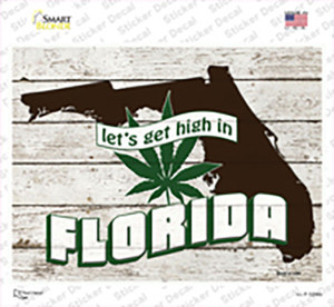 Get High In Florida Wholesale Novelty Rectangle Sticker Decal