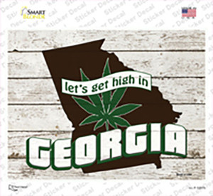 Get High In Georgia Wholesale Novelty Rectangle Sticker Decal