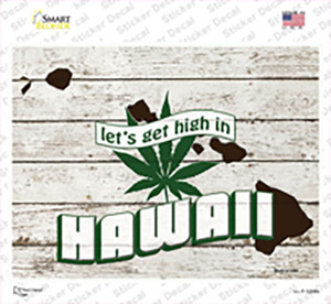 Get High In Hawaii Wholesale Novelty Rectangle Sticker Decal