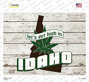 Get High In Idaho Wholesale Novelty Rectangle Sticker Decal