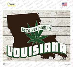 Get High In Louisiana Wholesale Novelty Rectangle Sticker Decal