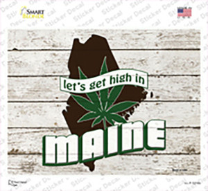 Get High In Maine Wholesale Novelty Rectangle Sticker Decal