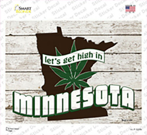 Get High In Minnesota Wholesale Novelty Rectangle Sticker Decal