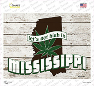 Get High In Mississippi Wholesale Novelty Rectangle Sticker Decal
