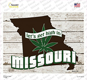 Get High In Missouri Wholesale Novelty Rectangle Sticker Decal