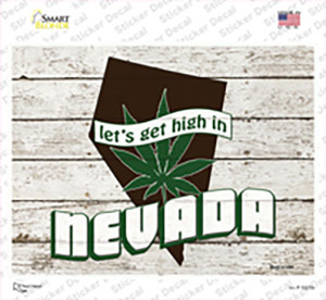 Get High In Nevada Wholesale Novelty Rectangle Sticker Decal