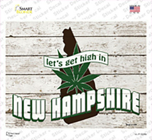 Get High In New Hampshire Wholesale Novelty Rectangle Sticker Decal