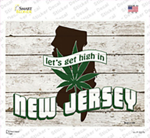 Get High In New Jersey Wholesale Novelty Rectangle Sticker Decal