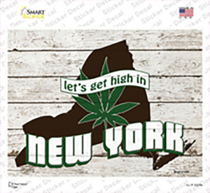Get High In New York Wholesale Novelty Rectangle Sticker Decal
