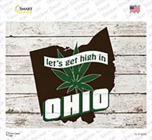 Get High In Ohio Wholesale Novelty Rectangle Sticker Decal
