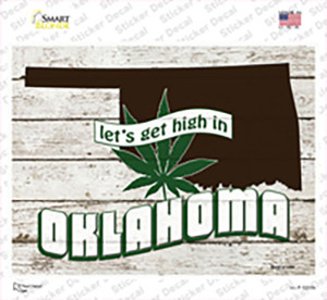 Get High In Oklahoma Wholesale Novelty Rectangle Sticker Decal