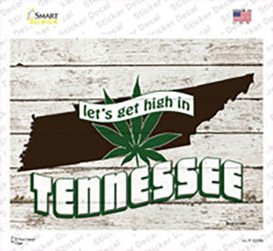 Get High In Tennessee Wholesale Novelty Rectangle Sticker Decal