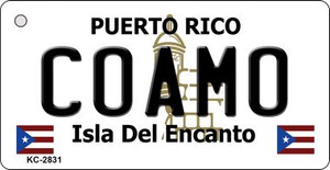 Coamo Puerto Rico Flag Wholesale Novelty Key Chain