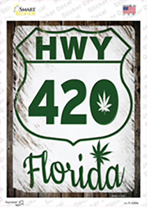 HWY 420 Florida Wholesale Novelty Rectangle Sticker Decal