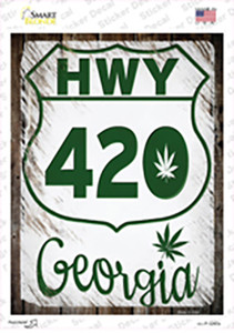 HWY 420 Georgia Wholesale Novelty Rectangle Sticker Decal