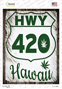 HWY 420 Hawaii Wholesale Novelty Rectangle Sticker Decal