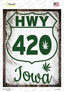 HWY 420 Iowa Wholesale Novelty Rectangle Sticker Decal