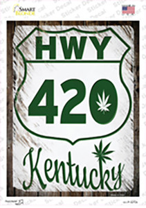 HWY 420 Kentucky Wholesale Novelty Rectangle Sticker Decal