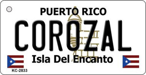 Corozal Puerto Rico Flag Wholesale Novelty Key Chain