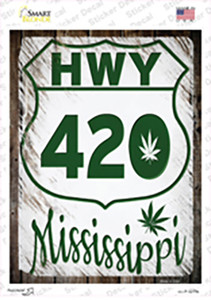 HWY 420 Mississippi Wholesale Novelty Rectangle Sticker Decal